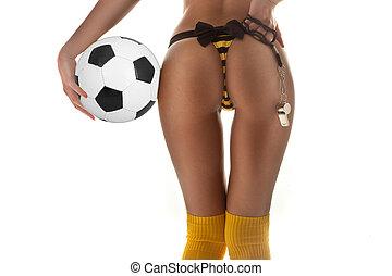 sexy, fußball, weibliche , spieler