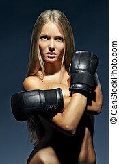 sexy girl boxer
