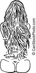 sexy girl hair