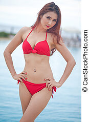 Sexy girl in bikini