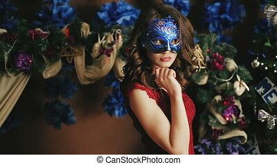Sexy girl masquerade ball