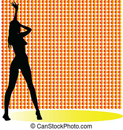 sexy girl one vector silhouettes