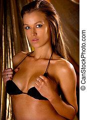 Sexy girl posing in bikini