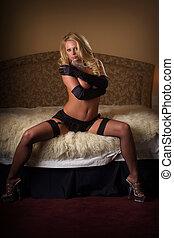 Sexy girl posing in lingerie