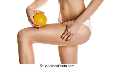 Sexy girl shows cellulite