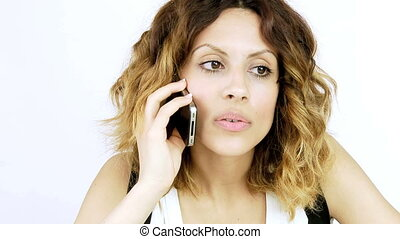 sexy girl talking on the phone