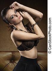 sexy girl with stylish bra