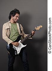 Sexy guitarist