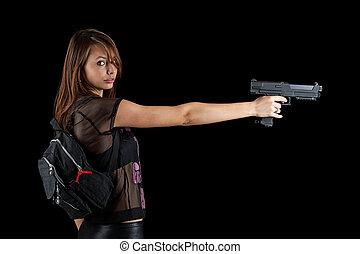 Sexy black women with guns