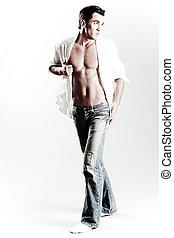 Sexy guy with beautiful body