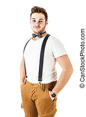 Sexy guy with bow tie