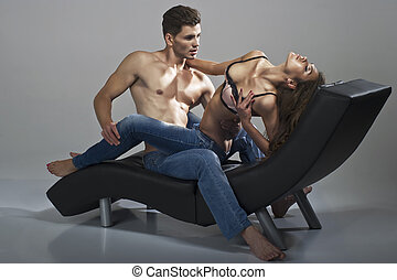 sexy, homme femme