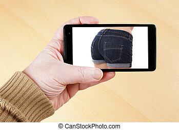 sexy, image, intelligent, téléphone