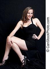 Sexy in Black Dress