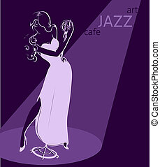 sexy jazz singer poster template