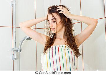 sexy Badezimmer Mädchen