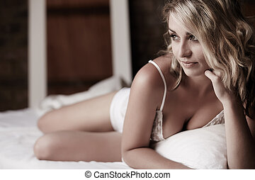 sexy, kobieta, dorosły