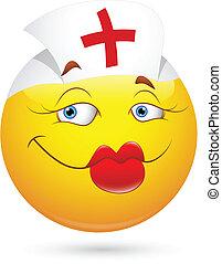 sexy, krankenschwester, smiley gesicht