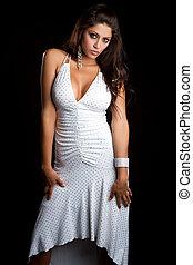 Sexy Latin Woman - Sexy latin woman wearing dress