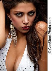 Sexy Latin Woman - Sexy latin fashion woman closeup