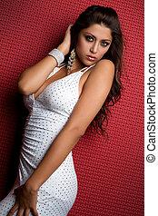 sexy, latina, vrouw