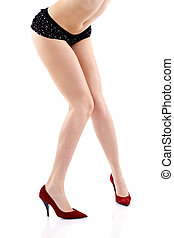 Sexy legs of beautiful woman