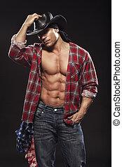 sexy, maenner, mögen, cowboy