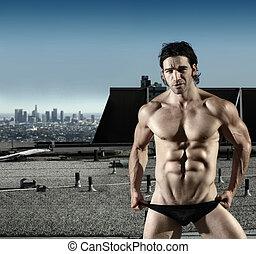 Sexy male underwear model