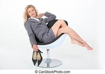 Sexy mature feet something is