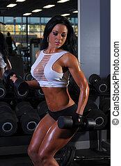 sexy, meisje, fitness