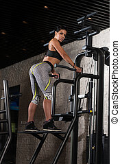 Sexy Mexican Woman Posing In The Gym