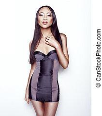sexy, model, lingerie, aantrekkelijk