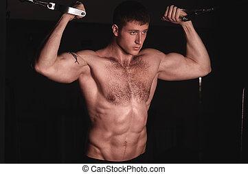 sexy, model, mannelijke , fitness