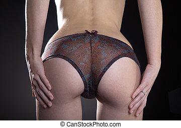 sexy, mujer, butt