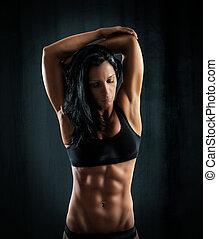 sexy, muscolare, donna