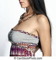 sexy, neckline, woman\'s