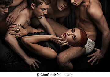 Sexy people - Photo of handsome sexy people posing