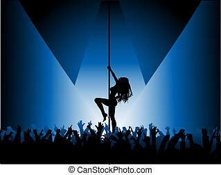 Sexy pole dancer - Silhouette of a sexy pole dancer ...