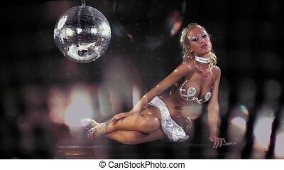 sexy professional gogo lily malibu shot dancing and next to...
