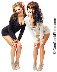sexy, ragazze, due