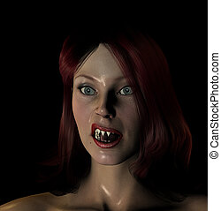 Sexy Red Haired Vamp - Sexy red haired vampire for...