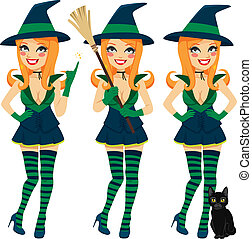 Sexy Red Haired Witch - Beautiful sexy red haired witch...