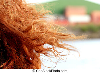 sexy red haired woman