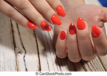 sexy red manicure