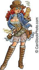 sexy, revolverheld, steampunk