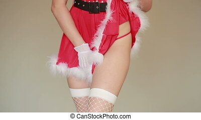 Sexy Santa Girl caresses herself. games
