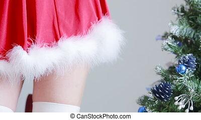Sexy Santa Girl  sex games. hands in handcuffs