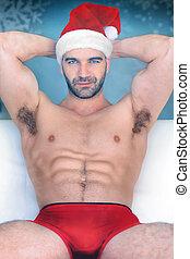 Sexy santa man hunk
