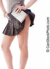 Sexy school girl body parts - Sexy school girl legs details...