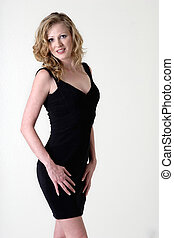 sexy, schwarzes kleid